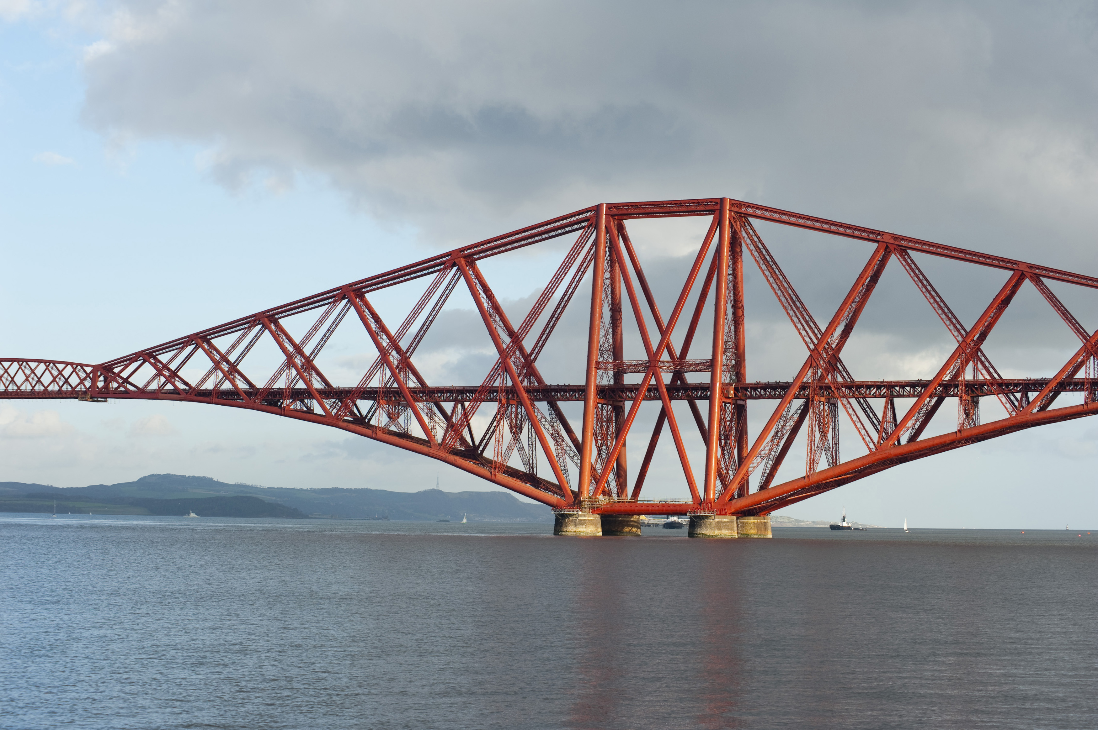 The famous forth rail bridge in scotland, the canteliver design was chosen after the faliure of a bridge similiar to the original design proposed. the bridge is considdered an engineering masterpiece of the victorian era, each tower is 100m tall and stands of large stone caissons