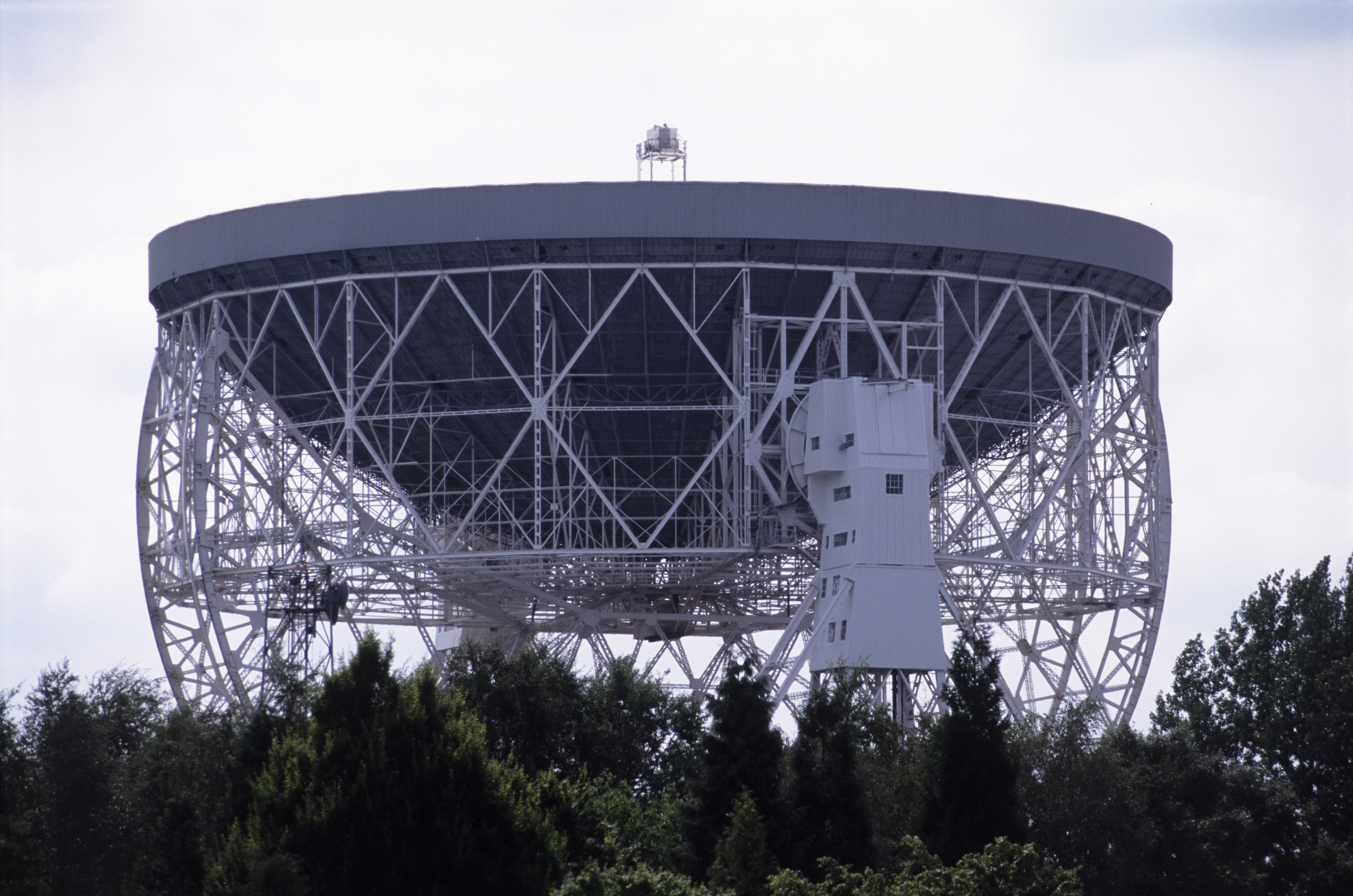 Jodrell Bank, Cheshire England is an astronomical observatory with a large radio telescope that has a steerable parabolic dish